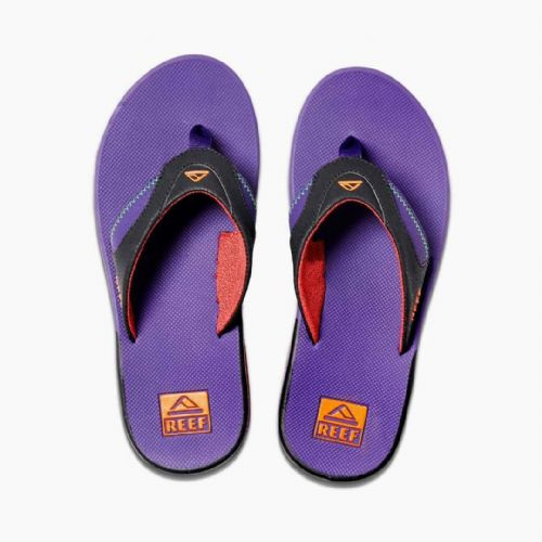 REEF MENS FLIP FLOPS.NEW FANNING PURPLE ARCH SUPPORT THONGS SANDALS SHOES 9W 26B